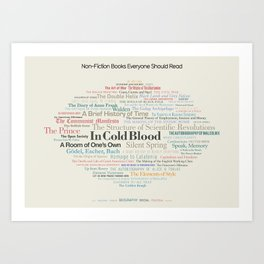 Non-Fiction Books Everyone Should Read Art Print