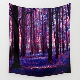 purple forest Wall Tapestry