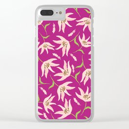 Bright Pink Clear iPhone Case