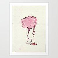 Tea Brain Art Print