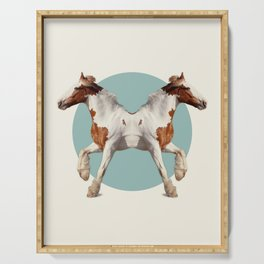 Double Animals: Horses Serving Tray