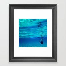 Bottomless blue Framed Art Print