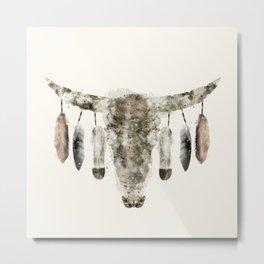 Cow Skull Metal Print