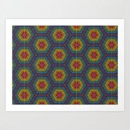 Honeycomb Weave Art Print