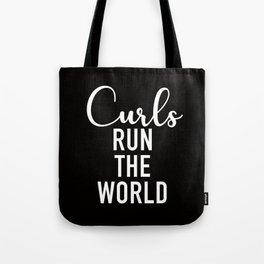 Curls Run The World Tote Bag