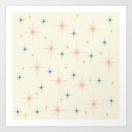 Mid Century Modern Stars Art Print