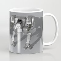 robots Mugs featuring Robots by Carlo Toffolo