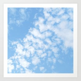 Summer Sky with fluffy clouds Art Print