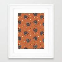 sloths Framed Art Prints featuring Sleepy Sloths by Marzipress