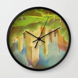 1952 Go Greyhound New York City Central Park Poster Wall Clock