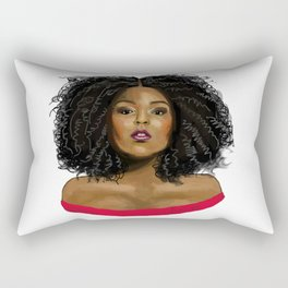 Big Girl, Small World Rectangular Pillow