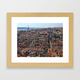 Lisbon Panoramic View Framed Art Print
