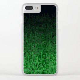 Reboot II GREEN Clear iPhone Case