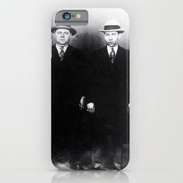 The Syndicate - 'Lucky' Luciano & New York gangsters Ed Diamond, Jack Diamond, & Fatty Walsh black and white photography / photographs iPhone Case