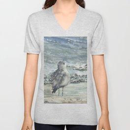 Seagull, Watercolour Unisex V-Neck