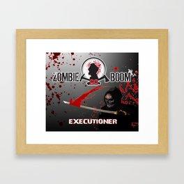 ZGB ZombieGoBoom Executioner with Katana  Framed Art Print