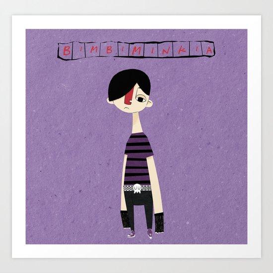 """Bimbiminkia"" - Emo Art Print"