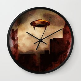 UFO Skyline Wall Clock