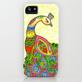 The Shy Peacock iPhone Case