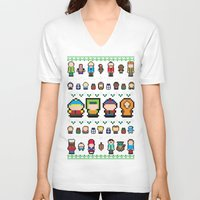 sweater V-neck T-shirts featuring Sweater Park by Brieana