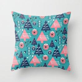 Mid-century modern Christmas Throw Pillow