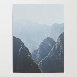 Mountains around Machu Picchu Poster