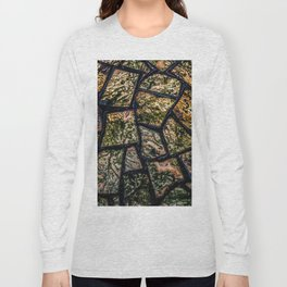 Colorful stainglass pattern Long Sleeve T-shirt