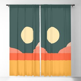 Geometric Landscape 14 Blackout Curtain