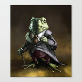 Lord Frog Canvas Print