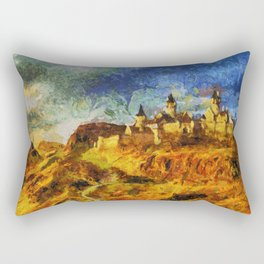 The castle of Vicent in the mountains Rectangular Pillow