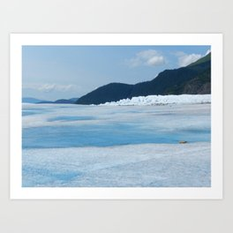 Blue Alaskan Glacier Art Print