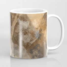 Stormy Abstract Art in Brown and Gray Coffee Mug