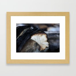 Burned and Blackened Pages Framed Art Print
