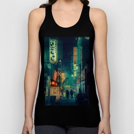 Tokyo Nights / Memories of Green / Blade Runner Vibes / Cyberpunk / Liam Wong Unisex Tank Top