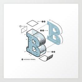 The Exploded Alphabet / B Art Print