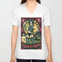 rocky horror V-neck T-shirts featuring Frank-N-Furter - Rocky Horror Picture Show by DanaRobinson