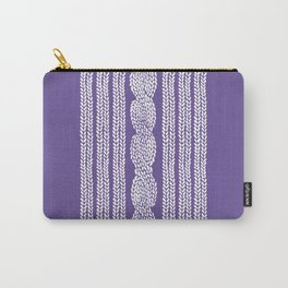 Cable Stripe Violet Carry-All Pouch