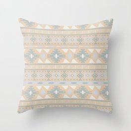 Desert Stripes No. 2 in Desert Peach Throw Pillow