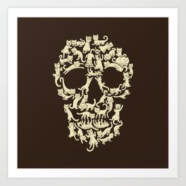 Catskull Art Print