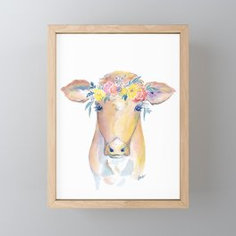 cow watercolor Tupelo Honey Framed Mini Art Print