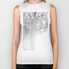 Hydrangea Still Life in Black and White #decor #society6 #buyart Biker Tank