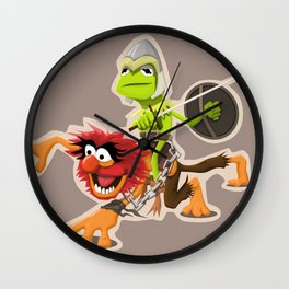 Muppet Warriors Wall Clock