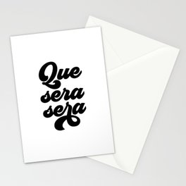 Que Sera Sera, Music Quote, Music Print Stationery Cards
