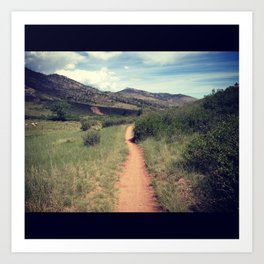 Hiking in Fort Collins, Colorado Art Print