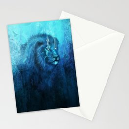 Blue Spirit Lion Stationery Cards