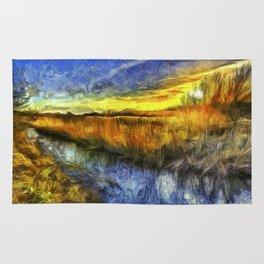 Sunset River Van Gogh Rug
