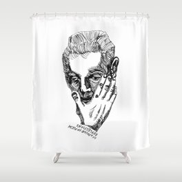 REFLECTIONS ON A POUND OF FLESH Shower Curtain