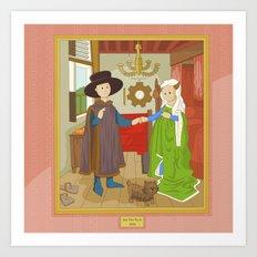 Arnolfini Portrait by Jan Van Eyck Art Print