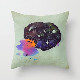 Cosmic Chip Cookie  Throw Pillow