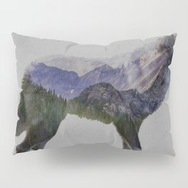 The Rocky Mountain Gray Wolf Pillow Sham